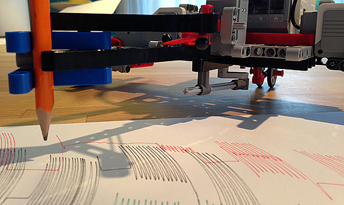 Lego Mindstorms – Random Art Wave