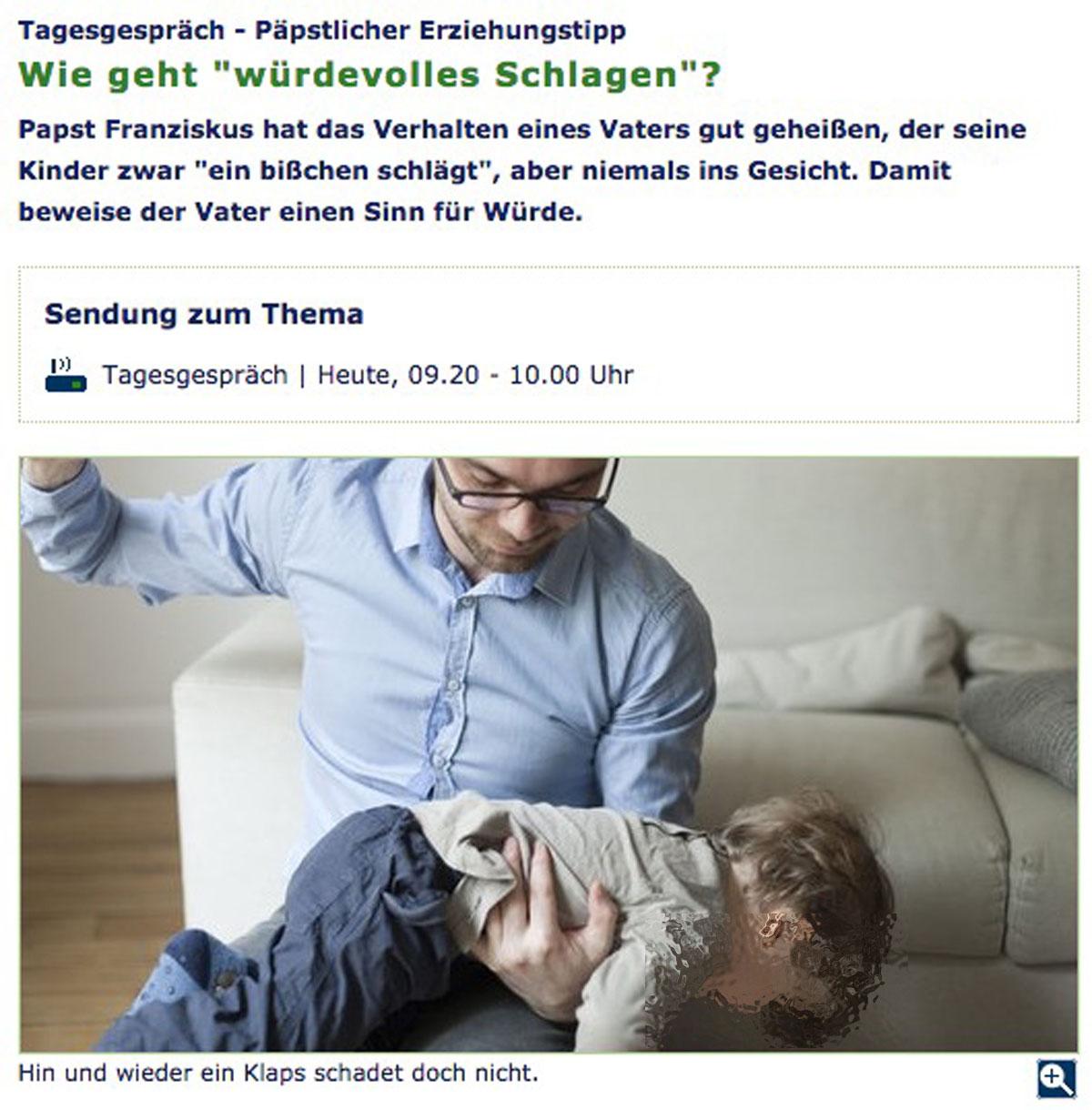 WDR5 - Würdevolles Schlagen von Kindern?!