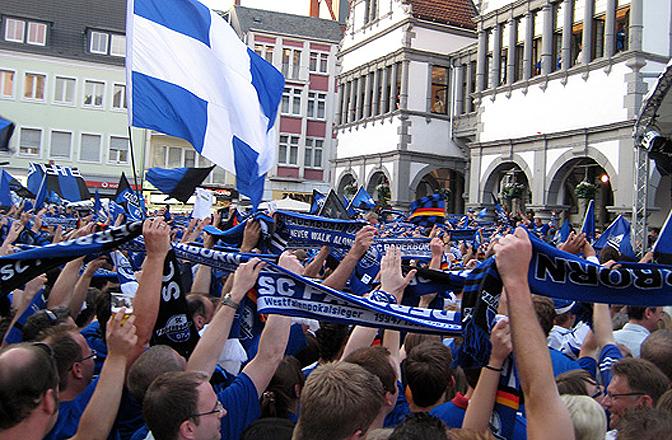 Der SC Paderborn 07 stieg heute in die 2. Bundesliga auf.
